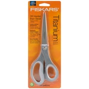 "Fiskars 01005409 Sharp Tip 8"" Sewing/Craft Scissors, Gray/White"