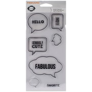 "Fiskars® Teresa Collins 4"" x 8"" Clear Stamp, Say It Loud"