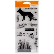 "Fiskars® 4"" x 8"" Clear Stamp, What A Fox!"