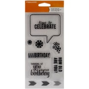 "Fiskars® 4"" x 8"" Clear Stamp, Time To Celebrate"