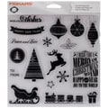 Fiskars® Teresa Collins 4in. x 8in. Clear Stamp, Twas The Night Before