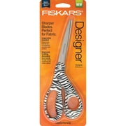 "Fiskars 194522 Sharp Tip 8"" Zebra Design Multi Purpose Scissors, Black/White"