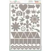 Hazel & Ruby® 12 x 18 Stencil Mask® Peel Away Shape Stencil Sheet, Everyday