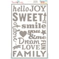 Hazel & Ruby® 12in. x 18in. Stencil Mask® Peel Away Words Stencil Sheet, Everyday