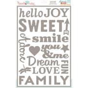 "Hazel & Ruby® 12"" x 18"" Stencil Mask® Peel Away Words Stencil Sheet, Everyday"