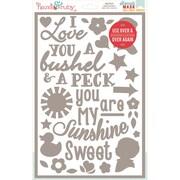"Hazel & Ruby® 12"" x 8"" Stencil Mask® Peel Away Words Stencil Sheet, Child's Play"