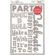 Hazel & Ruby® 12 x 8 Stencil Mask® Peel Away Words Stencil Sheet, Celebrate