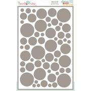 "Hazel & Ruby® 12"" x 18"" Stencil Mask® Peel Away Pattern Stencil Sheet, Confetti"