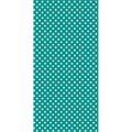 Hazel & Ruby® Pass The Tissue Paper Roll, 18in. x 144in., Teal Then/White Polka Dot