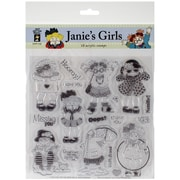 "Hot Off The Press 8"" x 8"" Acrylic Stamp Set, Janie's Girls"