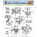 Hot Off The Press 8in. x 8in. Acrylic Stamp Set, Janie's Carousel Animals