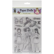 "Hot Off The Press 6"" x 8"" Acrylic Stamp Set, Faceless Dolls"