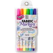 I Love To Create® Tulip® 6L Fabric Markers® Neon Set, Assorted Color