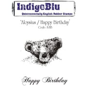Indigoblu 5 x 7 A6 Red Rubber Cling Mounted Stamp, Aloysius/Happy Birthday