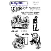 Indigoblu 9 x 6 1/2 A5 Red Rubber Cling Mounted Stamp, Alice II