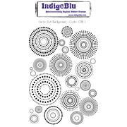 "Indigoblu 5"" x 4"" A6 Red Rubber Cling Mounted Stamp, Circle Dot Background"