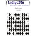 Indigoblu 4in. x 4in. A6 Red Rubber Cling Mounted Stamp, Harlequin