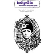 "Indigoblu 5"" x 4"" A6 Red Rubber Cling Mounted Stamp, Miss Austen"