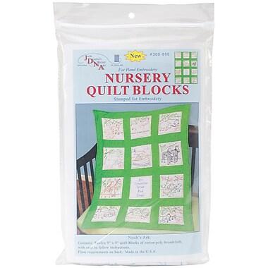Jack Dempsey Stamped White Nursery Quilt Block, 9