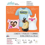 "Jolees® Easy Image® 11"" x 8 1/2"" Transfer Paper For Light Fabric, Glow in the Dark"