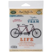 Justrite® Papercraft 3 1/2 x 4 Mini Cling Stamp Set, Bicycle Built For Two