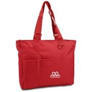K1C2 13 x 15 x 4 Crochet Happy Bright Bag, Red
