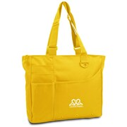 K1C2 13 x 15 x 4 Crochet Happy Bright Bag, Yellow
