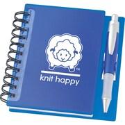 K1C2 Knit Happy Idea Notebook, 6 1/4(H) x 5 3/4(W), Sapphire