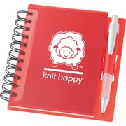 K1C2 Knit Happy Idea Notebook, 6 1/4(H) x 5 3/4(W), Red