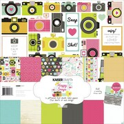 "Kaisercraft 12"" x 12"" Paper Pack, Happy Snaps"