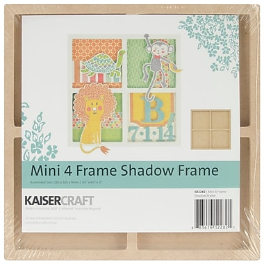 Kaisercraft Beyond The Page MDF Mini 4-Opening Shadow Frame, 6 1/2