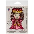 La-La Land Crafts 4in. x 3in. Cling Mount Rubber Stamp, Queen Of Hearts Marci