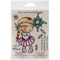 La-La Land Crafts 4in. x 3in. Cling Mount Rubber Stamp, Pinata Marci