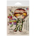 La-La Land Crafts 4in. x 3in. Cling Mount Rubber Stamp, Pinata Luka