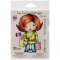 La-La Land Crafts 4in. x 3in. Cling Mount Rubber Stamp, Shopping Marci