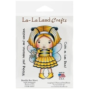"La-La Land Crafts 4"" x 3"" Cling Mount Rubber Stamp, Bumble Bee Marci"