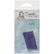 "Magnolia Mini Cozy Family 2 3/4"" x 5 3/4"" Cling Stamp, Tilda with Laced Flag"