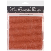 "My Favorite Things 6"" x 6"" Background Cling Rubber Stamp, Typewriter Text"