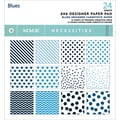 My Minds Eye 6in. x 6in. Necessities Paper Pad, Blues/12 Double-Sided Designs