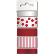 My Minds Eye Necessities Decorative Tape, Reds/Glitter, Print & 2 Foil