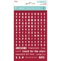 My Minds Eye Necessities Tiny Word & Alpha Sticker, Red