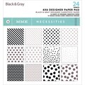 My Mind's Eye 6in. x 6in. Paper Pad, Necessities/Black & Gray