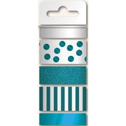 My Minds Eye 45' Necessities Decorative Tape, Teal, 4 Roll/Pack