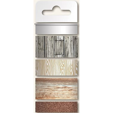 My Minds Eye 45' Necessities Decorative Tape, Wood, 4 Roll/Pack