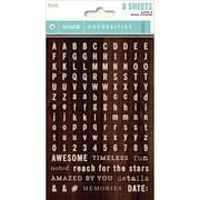 My Minds Eye Necessities Tiny Word & Alpha Sticker, Wood