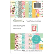 Pebbles 5 1/2 x 8 1/2 Garden Party Cardmaking Paper Pad, 24 Designs