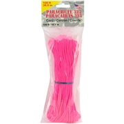 "Pepperell 3 mm x 100' Parachute Cord, 11"" x 3.8"" x 1.2"", Neon Pink"
