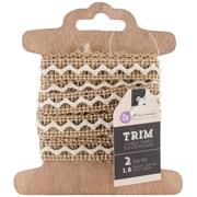 "Prima Marketing™ 1/2"" x 2 Yards Burlap & Gold Assortment Trim"