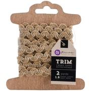 "Prima Marketing™ 1/2"" x 2 Yards Stitched Burlap & White Assortment Trim"