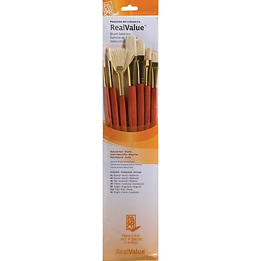 Princeton Art & Brush™ RealValue™ Round Size 2 & 6 Natural Bristle Brush Set